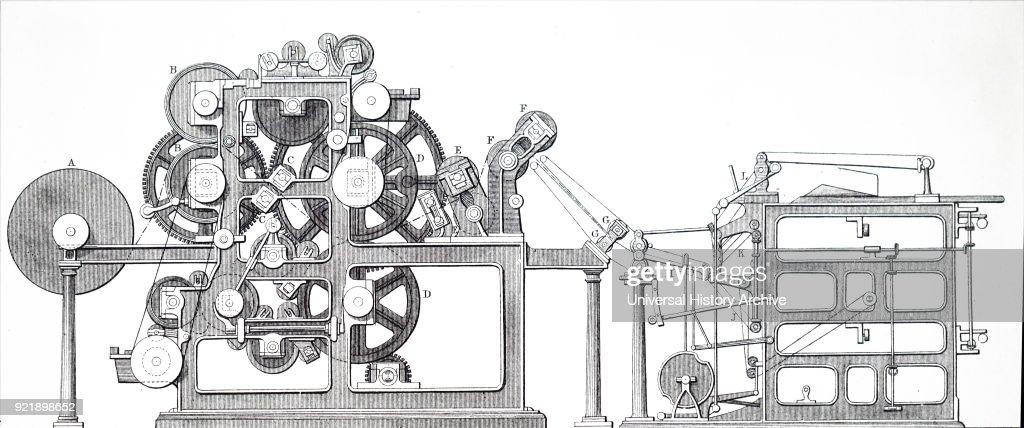 Ingram's rotary printing machine. : News Photo