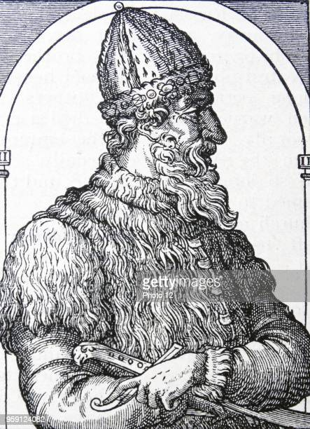 Engraving depicting Ivan III 'The Terrible' the Grand Prince of Moscow from 1533 to 1547 and Tsar of All the Russias from 1547 until his death Dated...