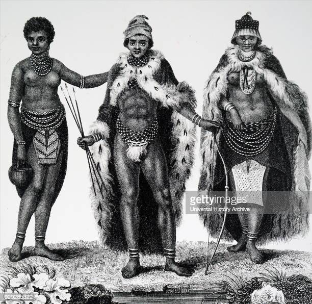 Engraving depicting Khoikhoi man and woman in traditional dress The Khoikhoi are a group of Khosian people native to southwestern Africa The Dutch...