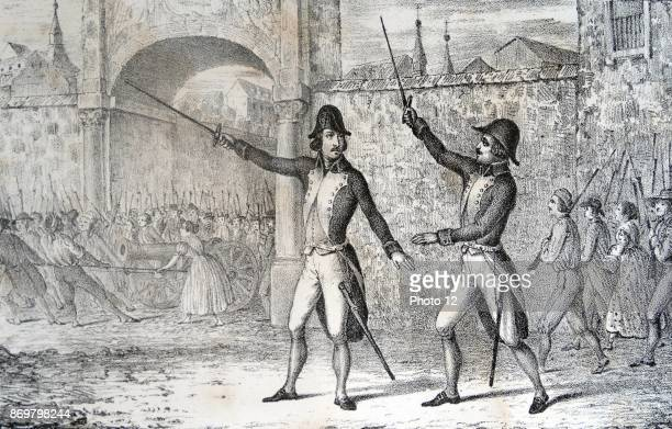 Engraving depicting Luis Daoiz y Torres Spanish artillery officer and one of the leaders of the Dos de Mayo Uprising that signalled the start of the...