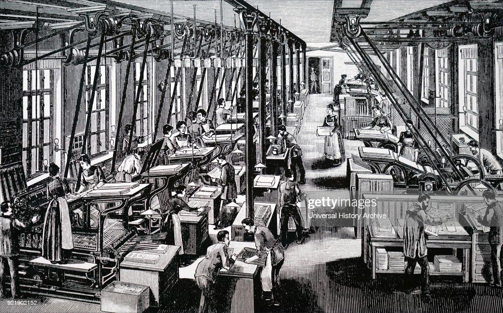 Numann's printing works. : News Photo