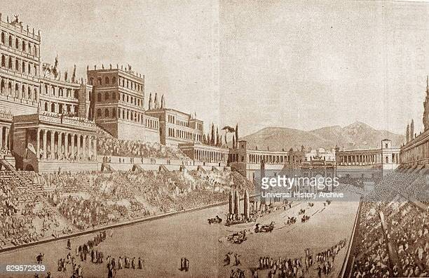 Engraving depicting the Circus Maximus