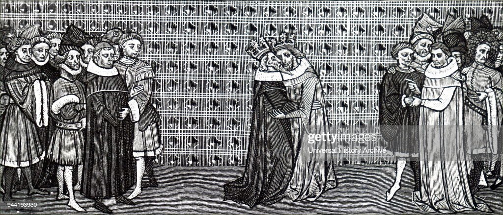 The meeting of King Edward III and King Philip V of France. Pictures ...