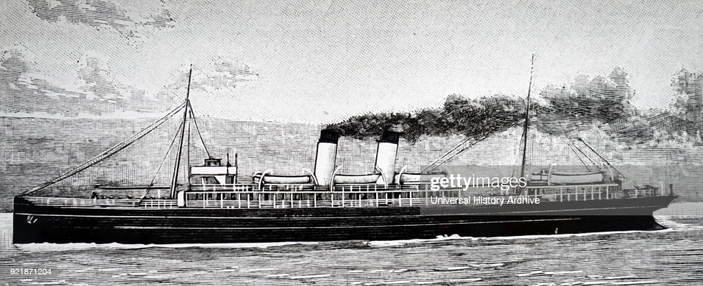 The packet boat 'Queen'. : News Photo
