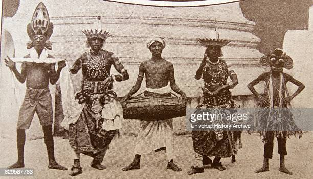 Engraving depicting tribal dancers from Africa Dated 19th Century