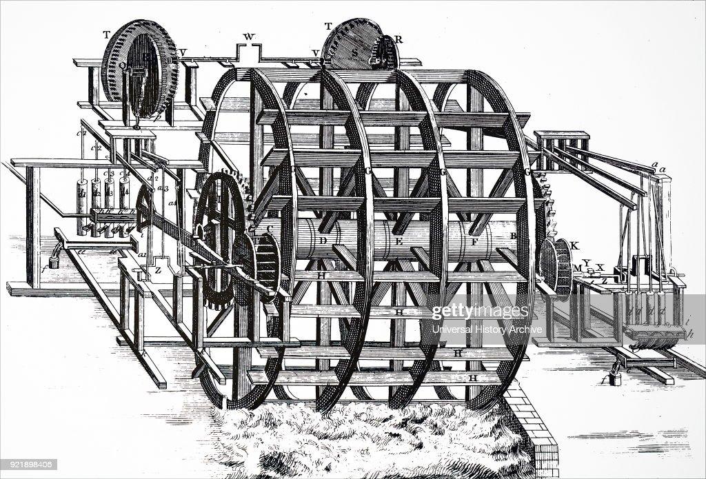Waterworks at Old London Bridge. : News Photo