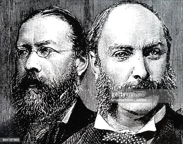 Engraving depicting William Henry Preece and John William Strutt 3rd Baron Rayleigh Sir William Henry Preece a Welsh electrical engineer and inventor...
