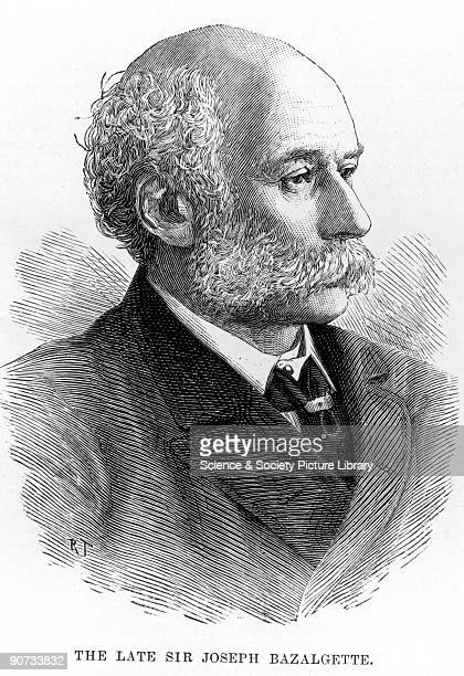 Engraving from the Illustrated London News after a photographic portrait Bazalgette was appointed chief engineer to the Metropolitan Board of Works...