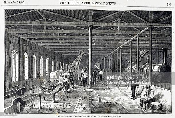Engraving from the �Illustrated London News� published on 24 March 1849 The Grand Junction Railway was incorporated in 1833 serving Liverpool...