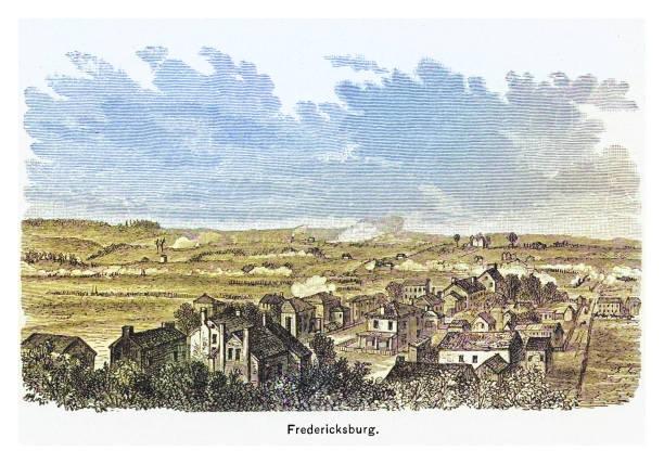 Engraving illustration of Fredericksburg after the battle