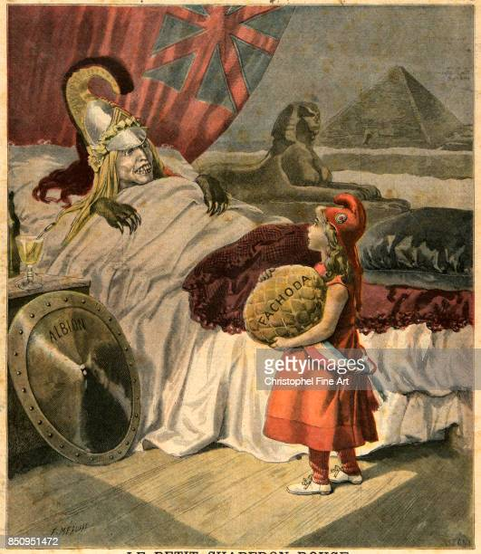 Engraving Le Petit Journal November 20th 1898 Little Red Riding Hood Cartoon against England at the time of the Treaty of Fashoda Private Collection