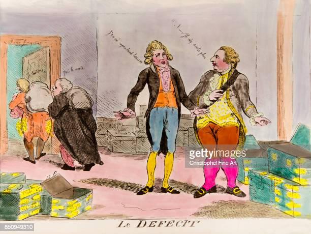 Engraving Louis XVI and the financial deficit 'Ils n'y sont plus to J'en ai cependant laisse' Private Collection