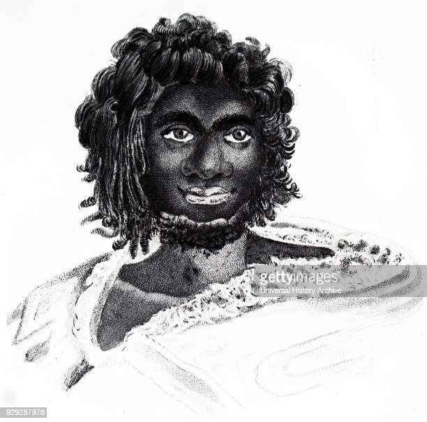 Engraving of a native Australian Dated 19th Century