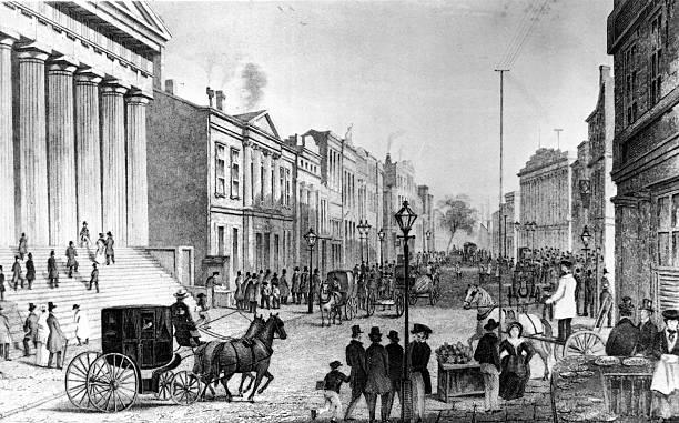 Wall Street In 1860s Wall Art