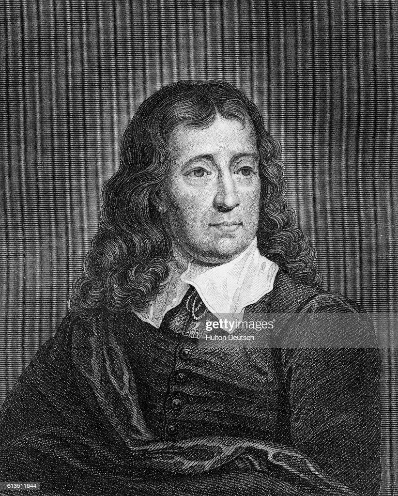 Engraving of British Poet John Milton by John Wykeham Archer : News Photo