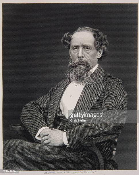 Engraving of Charles Dickens