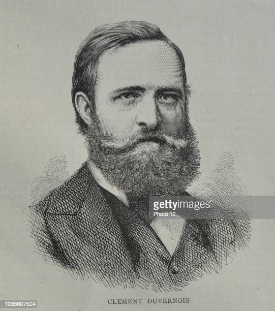 Engraving of Clement Jean Aime Duvernois French journalist and politician. Dated 1870.