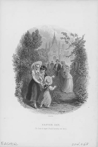 Engraving of 'Easter Day' by Schmolze, including quotation...