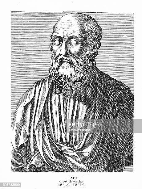 Engraving of Greek philosopher Plato circa 400 BC