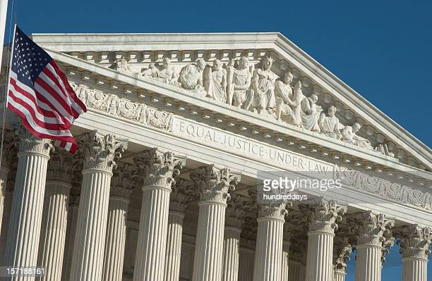 engraving of justice principals of supreme court - copyright stock photos and pictures