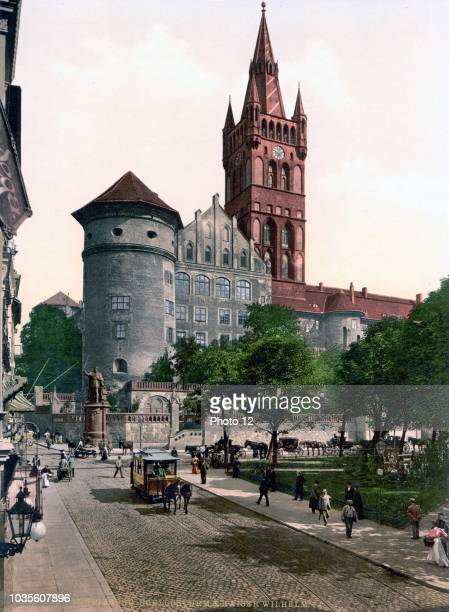 Engraving of Konigsberg Castle in present day Kaliningrad The Konigsberg Castle was a castle in Konigsberg Germany and was one of the landmarks of...