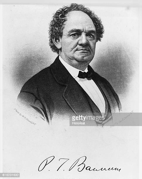 Engraving of Phineas Taylor Barnum Based Upon Photograph by WR Howell