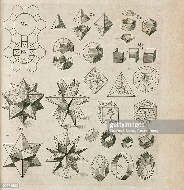 Engraving of star polyhedra from 'Harmonices mundi' by German astronomer Johannes Kepler published in Linz Austria in 1619 In this section Kepler...