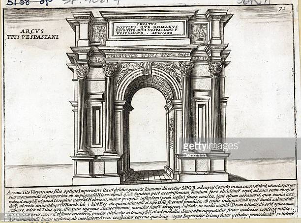 Engraving of the Arch of Titus in Rome Undated illustration
