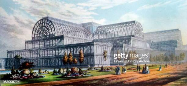 Engraving of the Crystal Palace by George Baxter an English artist and printer Dated 19th Century