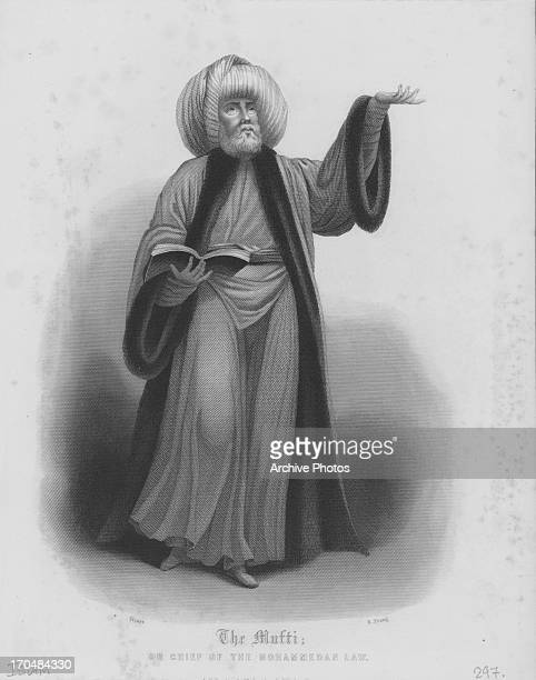 Engraving of 'The Mufti' a chief of Mohammedan Law followers of the Prophet Mohammed
