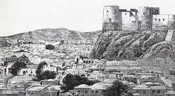 Engraving of the town and fortress of Herat the gateway to Afghanistan and India Dated 19th Century