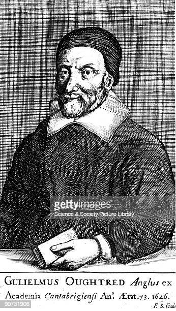 Engraving of William Oughtred who wrote extensively on mathematics In 'Clavis Mathematica' a textbook on arithmetic and algebra Oughtred introduced...
