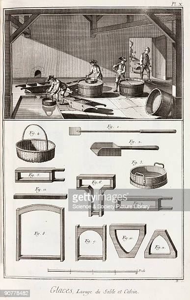 Engraving Plate or sheet glass was first produced in France in 1688 using a new process whereby molten glass was poured onto a special surface rolled...