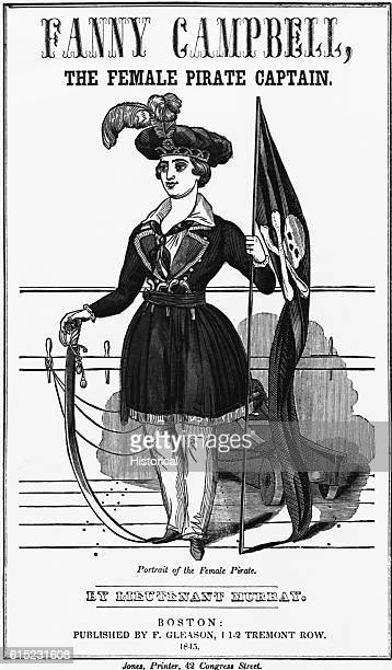 Engraving Portrait of Fanny Campbell the Female Pirate Captain