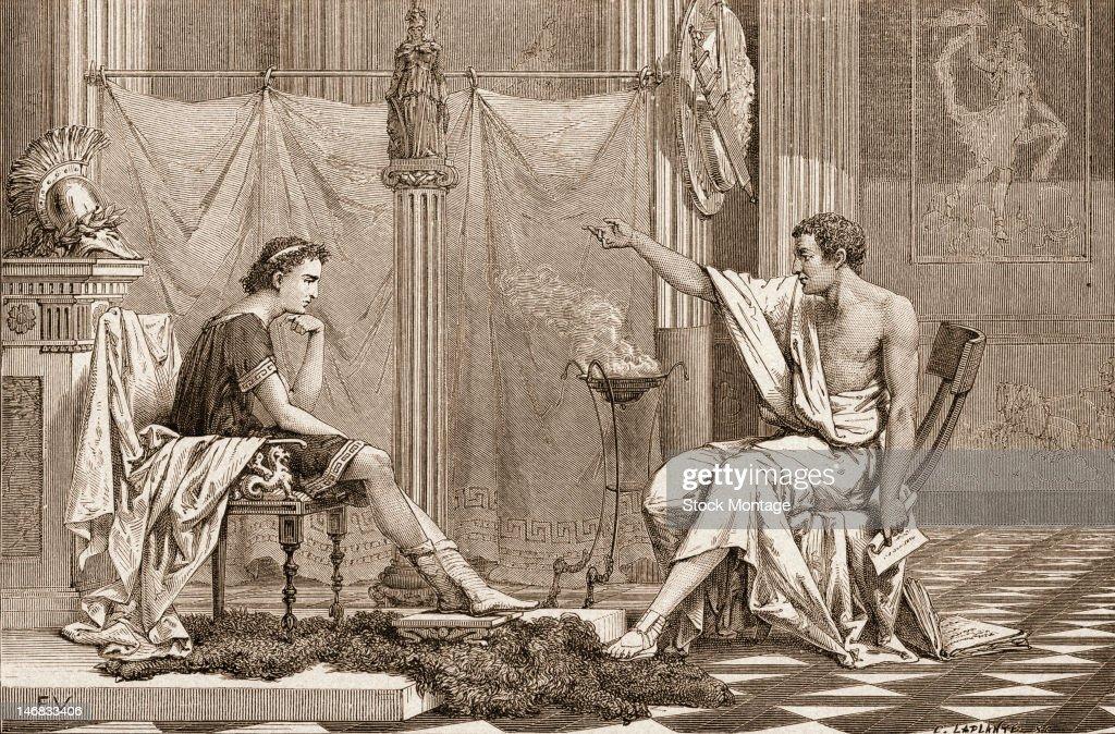 Aristotle Teaches Alexander The Great : News Photo