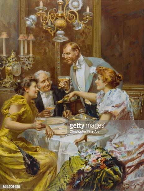 Engraving The Fine Supper 20th century Private Collection