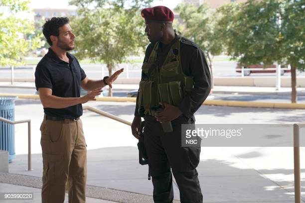 THE BRAVE 'Enhanced Protection' Episode 102 Pictured Hadi Tabbal as Agent Amir AlRaisani Jimmy JeanLouis as Lieutenant