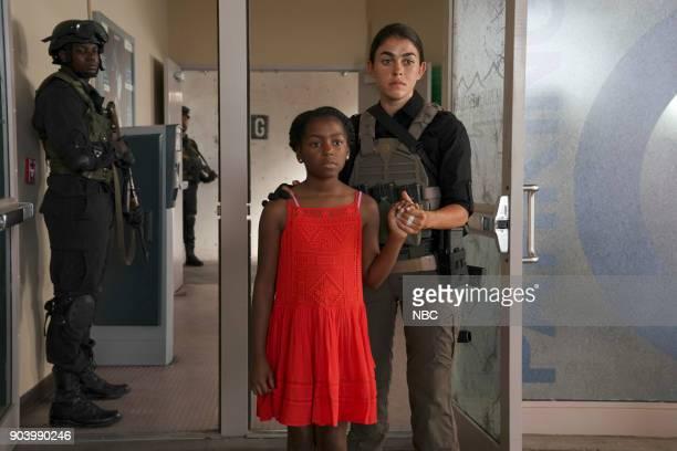 THE BRAVE 'Enhanced Protection' Episode 102 Pictured Kendall Joy Hall as Nigerian girl Natacha Karam as Sergeant Jasmine 'Jaz' Khan