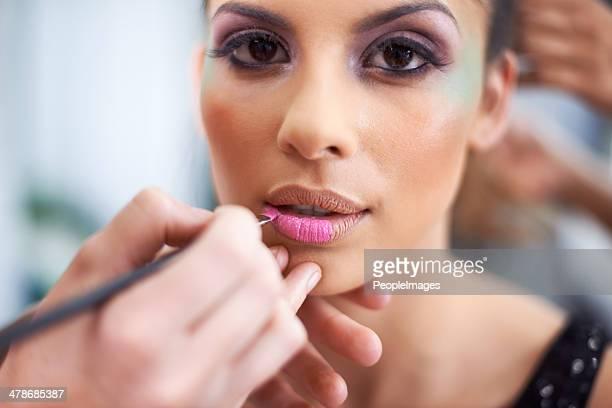 Enhancing her natural beauty