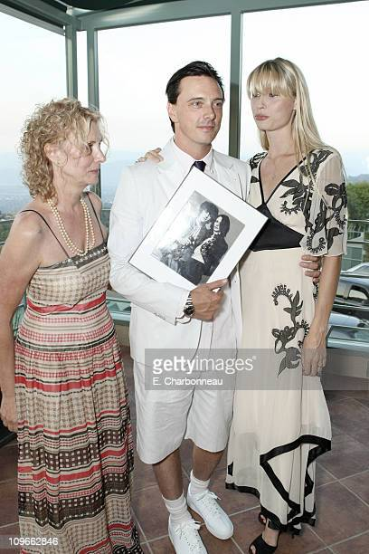 Enid Karl Donovan Leitch and Kirsty Hume at Donovan Leitch's 40th Birthday Party hosted by Hpnotiq held at The Muholland Tennis Club on August 16...