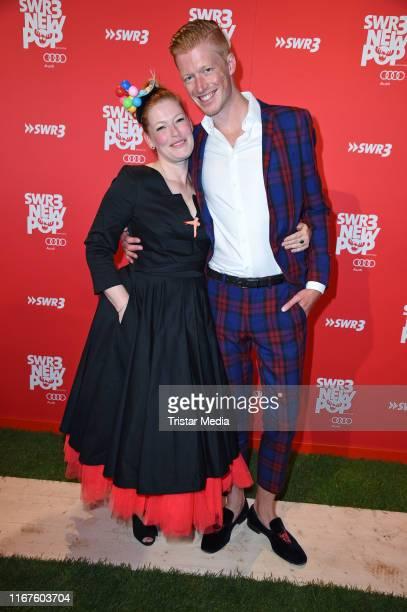 "Enie van de Meiklokjes and her husband Tobias Staerbo attend the ""SWR3 New Pop Festival - Das Special on September 12, 2019 in Baden-Baden, Germany."