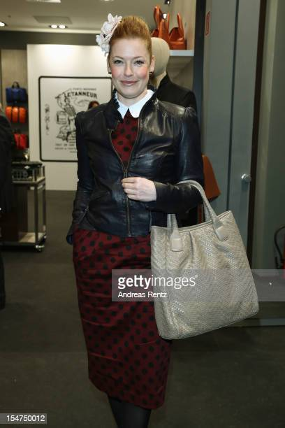 Enie van de Meiklokjes attends the 'Le Tanneur' store opening at Quartier 207 on October 25, 2012 in Berlin, Germany.