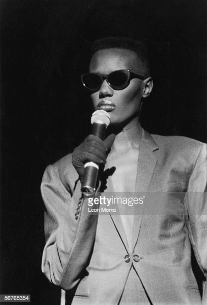 Enigmatic Jamaican singer and actress Grace Jones circa 1985