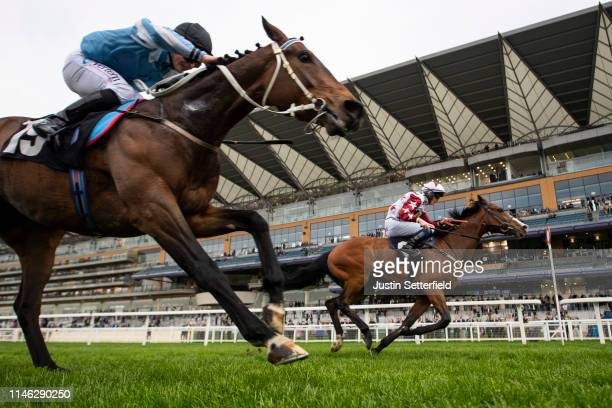 Enigmatic ridden by Darragh Keenan wins the Manny Mercer Apprentice Handicap the Royal Ascot Trials Day on May 01 2019 in Ascot England