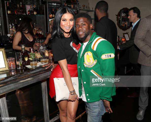 Eniko Hart and Kevin Hart attend the Klutch Sports Group More Than A Game Dinner Presented by Remy Martin at Beauty Essex on February 17 2018 in Los...