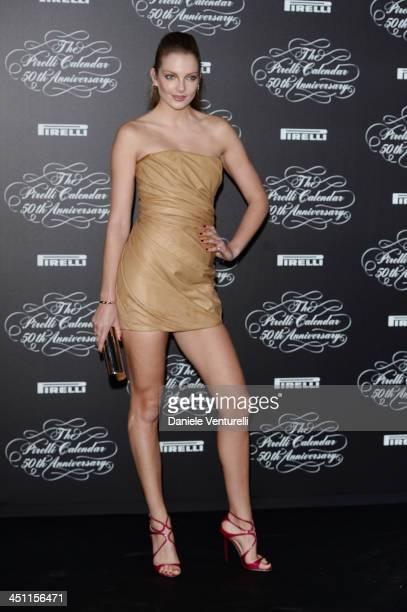 Eniko Mihalik attends the Pirelli Calendar 50th Anniversary Red Carpet on November 21 2013 in Milan Italy