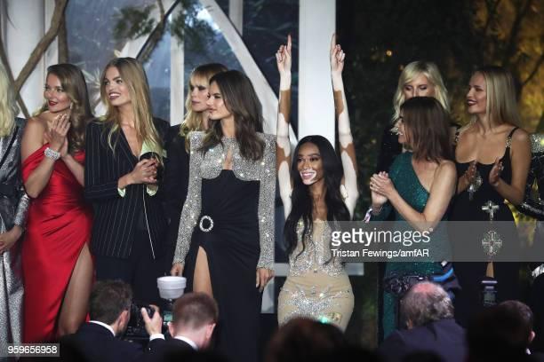 Eniko Mihalik, Daphne Groeneveld, Alessandra Ambrosio, Winnie Harlow, Carine Roitfeld, Karolina Kurkova and Natasha Poly are seen on the runway...