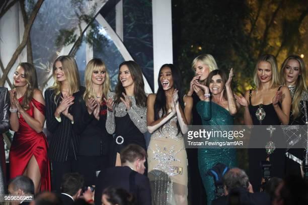 Eniko Mihalik, Daphne Groeneveld, guest, Alessandra Ambrosio, Winnie Harlow, Karolina Kurkova, Carine Roitfeld, Natasha Poly and Hannah Ferguson on...