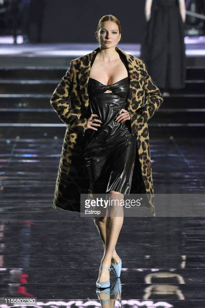 Eniko Mihalik walks the CR Runway x LuisaViaRoma at Piazzale Michelangelo during the Pitti Immagine Uomo 96 on June 13 2019 in Florence Italy