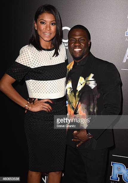 Eniko Parrish and comedian/actor Kevin Hart attend the PEOPLE Magazine Awards at The Beverly Hilton Hotel on December 18 2014 in Beverly Hills...